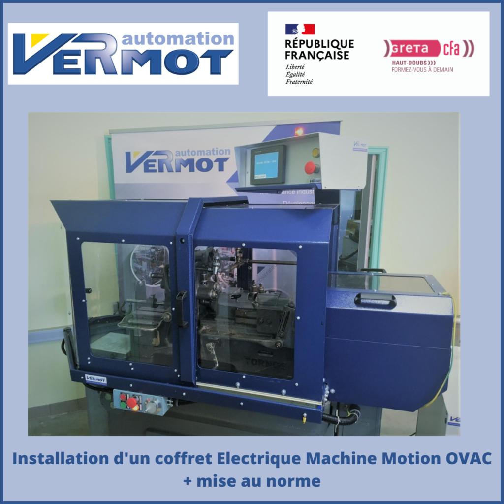 Installation d'un Coffret Electrique Machine Motion OVAC + mise au norme
